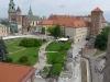 Am nächsten Tag wurde Krakau besichtigt - hier das Schloss