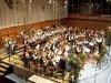 Grosses Blasorchester mit Dirigent Konrad Sepp