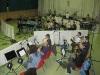 Hier spielt das junge Blasorchester ihren Teil der CD ein