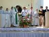 Gottesdienst vor der Leonhardikirche zum Festwochenende