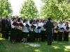 Italienischer Chor San Cassiano beim Gottesdienst