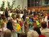 Dirigent Konrad Sepp und Orchester beim Aufritt von Karneval der Tiere