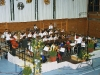 Big Band Besetzung spielt in der Mehrzweckhalle Höhenkirchen-Siegertsbrunn