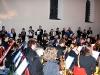 Blick auf das Orchester beim nachgeholten Konzert an der Leonhardikirche