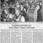Weisatwecken 2003 -Bericht-  (Münchner Merkur, 22.9.2003)