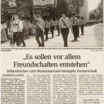 Jubiläumswochenende: Festzug, -Bericht- (Münchner Merkur, 20.6.2005)