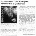 Jubiläums-CD 2005 (Gemeindeblatt, 1.12.2005)