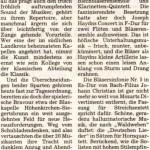Kammerkonzert 2005 -Bericht- ( Münchner Merkur, 5.10.2005)