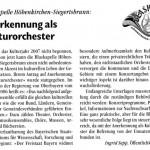 Kulturorchester 2006 -Bericht- (Gemeindeblatt, 2006)