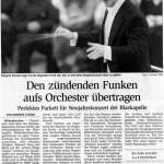 Neujahrskonzert 2006 -Bericht- (Münchner Merkur, 19.1.2006)