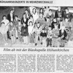 Frühjahrskonzert 2007 -Ankündigung- (Münchner Merkur, 2007)