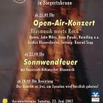 """Open-Air-Konzert 2007 """"Blasmusik meets Rock"""""""