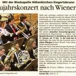 Neujahrskonzert 2007 in Neubiberg -Ankündigung- (Südostkurier, 2007)