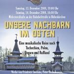 """Adventskonzert 2008 """"Unsere Nachbarn im Osten"""""""