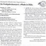 Frühjahrskonzert 2008 -Ankündigung- (Gemeindeblatt, März 2008)