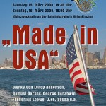 """Frühjahrskonzert 2008 """"Made in USA"""""""