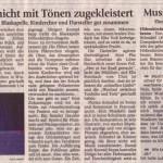 """Musical """"Der Zirkus brennt"""" (Münchner Merkur, 30.4.2008)"""