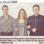 Adventskonzert 2009 -Ankündigung- (Hallo, 10.12.2009)