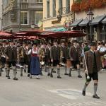 Unsere Kapelle beim Trachten- und Schützenzug des Münchner Oktoberfests