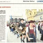 Trachtenzug zum Oktoberfest 2009 (Münchner Merkur, 21.9.2009)