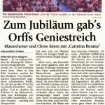 Carmina Burana 2010 -Bericht- (Münchner Merkur, 29.6.2010)
