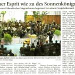 Neujahrskonzert 2010 -Bericht- (Münchner Merkur, 18.1.2010)