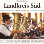 Jetzt geht's rund (Münchner Merkur, Landkreisausgabe, 25.10.2011)