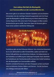Handzettel Sonnwendfest 2011 Rückseite