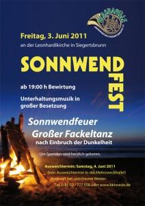 Handzettel Sonnwendfest 2011 Vorderseite