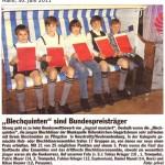 """""""Blechquinten"""" sind Bundespreisträger (Hallo, 30.6.2011)"""