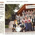 Schuhplattler bringt ein Stück Bayern nach Polen (Münchner Merkur, Landkreisausgabe, 5. Juli 2011)