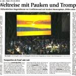 Auf Weltreise mit Pauken und Trompeten (Münchner Merkur, Lkr.-Süd, 15.12.2011)