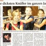 Die dicksten Knüller im ganzen Jahr (Münchner Merkur, Lkr.-Süd, 30. 12. 2011 )