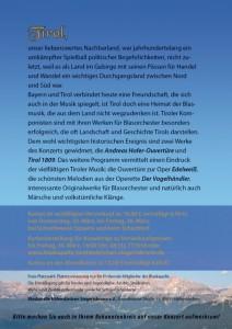 Handzettel Frühjahrskonzert 2012 Rückseite