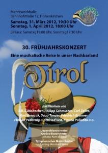 Handzettel Frühjahrskonzert 2012 Vorderseite