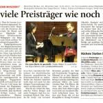 So viele Preisträger wie noch nie (Münchner Merkur, Lkr.-Süd, 31.1.2012)