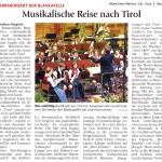 Musikalische Reise nach Tirol (Münchner Merkur, Lkr.Süd, 3.4. 2012)