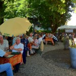Biergarten am 1. August 2012 und Sommerpause