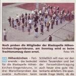 Trainingsendspurt – Blaskapelle beim Trachtenumzug (Südost-Kurier, 19.9.2012)