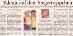 Talente auf dem Siegertreppchen (Münchner Merkur, Lkr.Süd 6./7. 7. 2012)