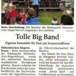 Tolle Big Band (Münchner Merkur, LKr.Süd,  26.6.2012)