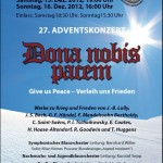 "Adventskonzert 2012 ""Dona nobis pacem"""