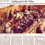 Luftig tanzt die Tuba (Münchner Merkur, Lk-Süd, 30.01.2013)