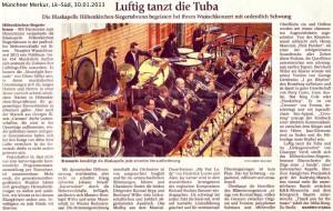 Luftig tanzt die Tuba