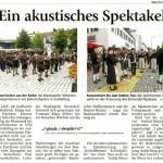 Ein akustisches Spektakel (Münchner Merkur, Lkr. München, 2.7.2013)