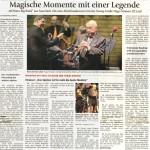 Magische Momente mit einer Legende (Münchner Merkur, Lkr. M.-Süd, 13.11.2013)
