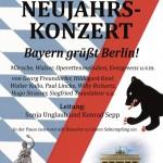 """Neujahrskonzert 2014 """"Bayern grüßt Berlin!"""""""