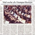 Viel mehr als Humpa-Humpa (Münchner Merkur, Landkreis Süd, 16.4.2014)