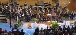 Das Große Blasorchester beim Frühjahrskonzert im März 2015