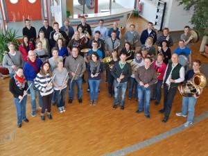 Das Symphonische Blasorchester im März 2015